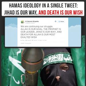 """Hamas tweets: """"Jihad is our way"""""""